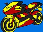 giocare Fast cross motorbike coloring