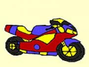 giocare Fast city motorcycle coloring